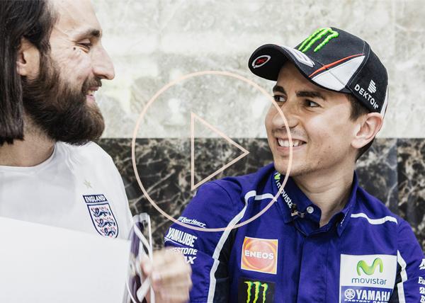 Jorge Lorenzo, motorcycle GP racer meet Eurasian Bank customers