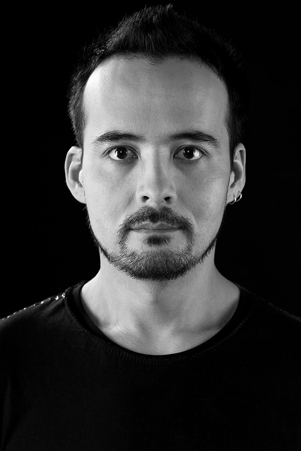 Asset Narmanbetov, guitarist, portrait