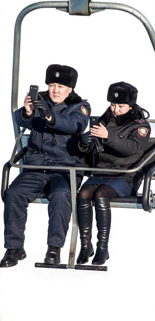Police, Kazakhstan, selfie, mobilephotography