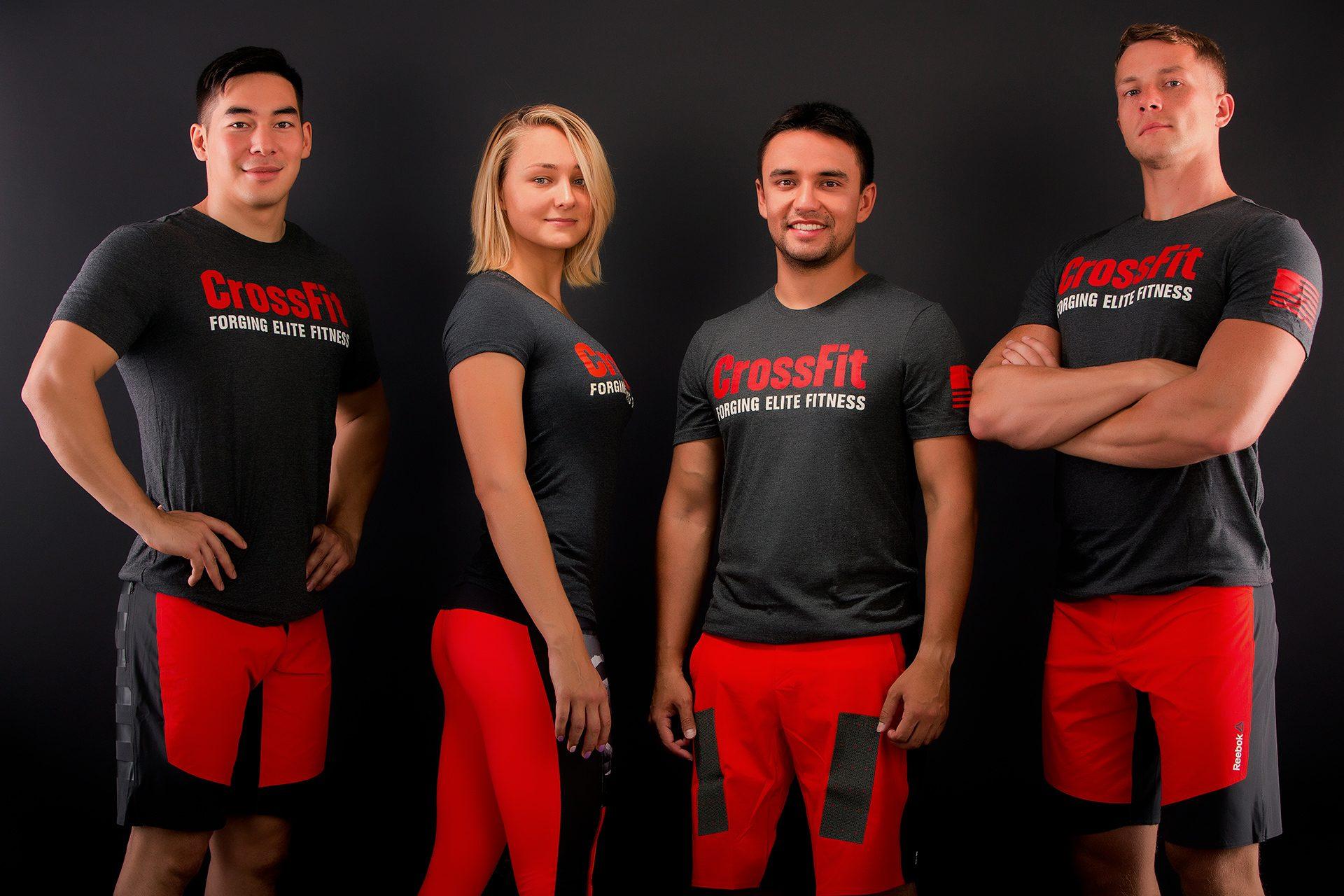 Bahtiyar Shyktybayev, Yelena Chichibabina, Meiram Koshenov, Andrey Chichibabin, CrossFit box co-founders
