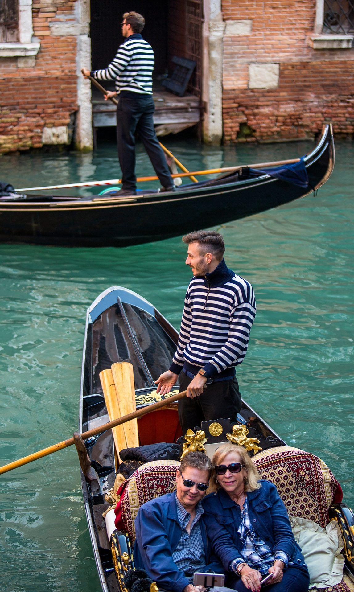 Venice, Italy, gondolas, gondoliers, gondolier, channel, tourism, tourists, Europe