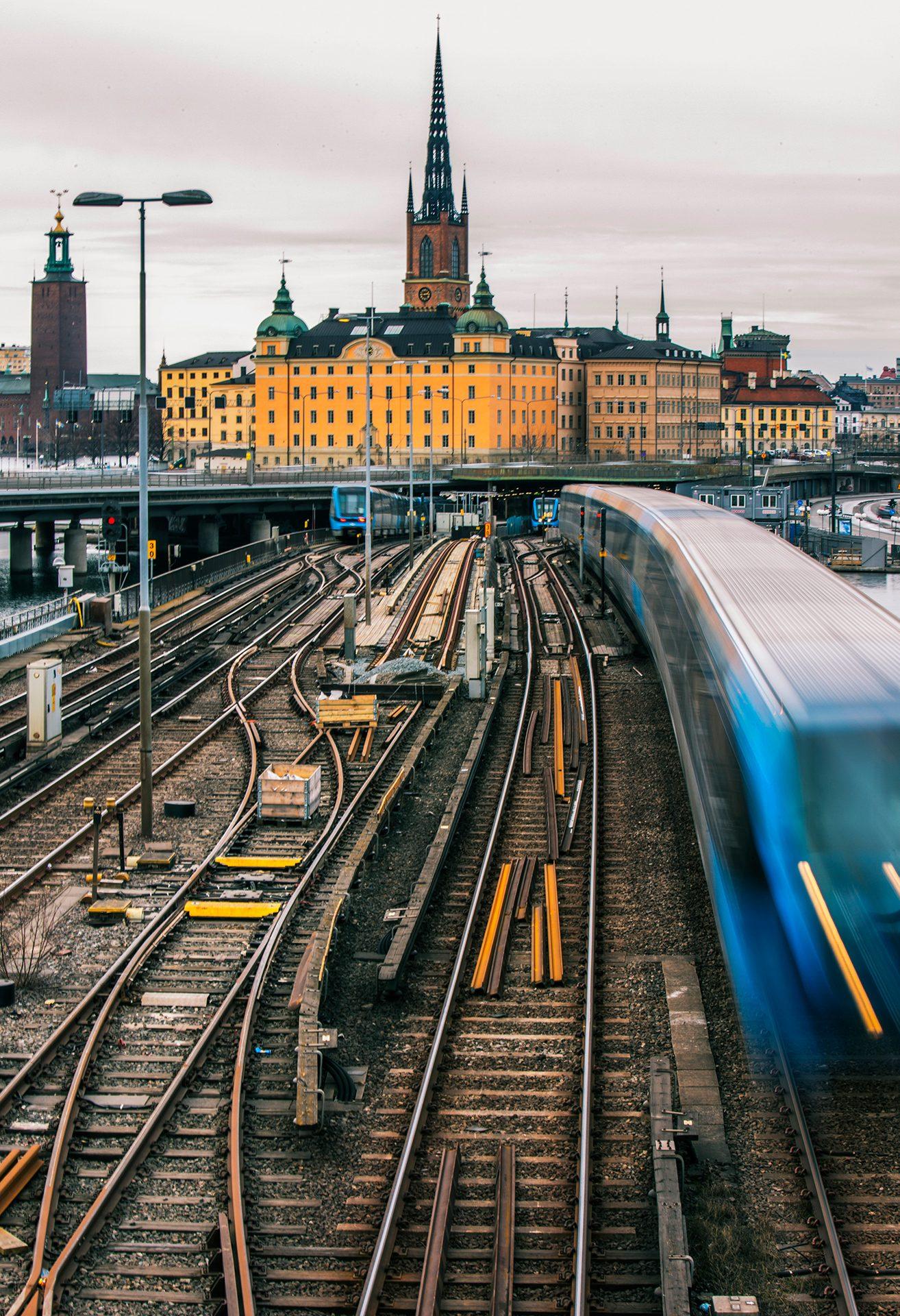 Stockholm, railway junction, Sweden