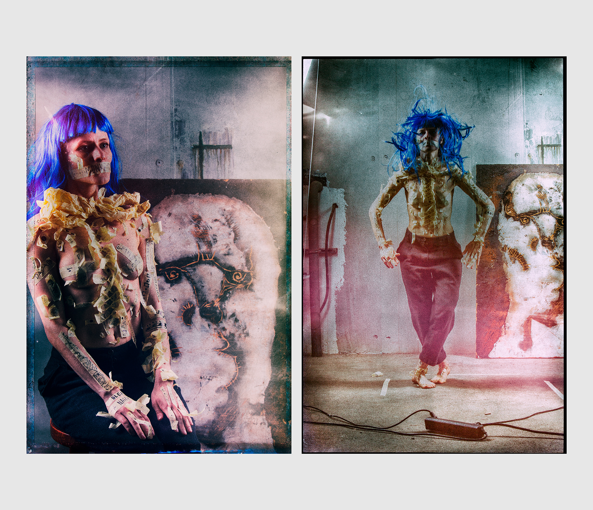 Anastasija Klee, Monkeydo studio photoset, Berlin, thrash, photoset, art, model, weird, creep, strange, fashion