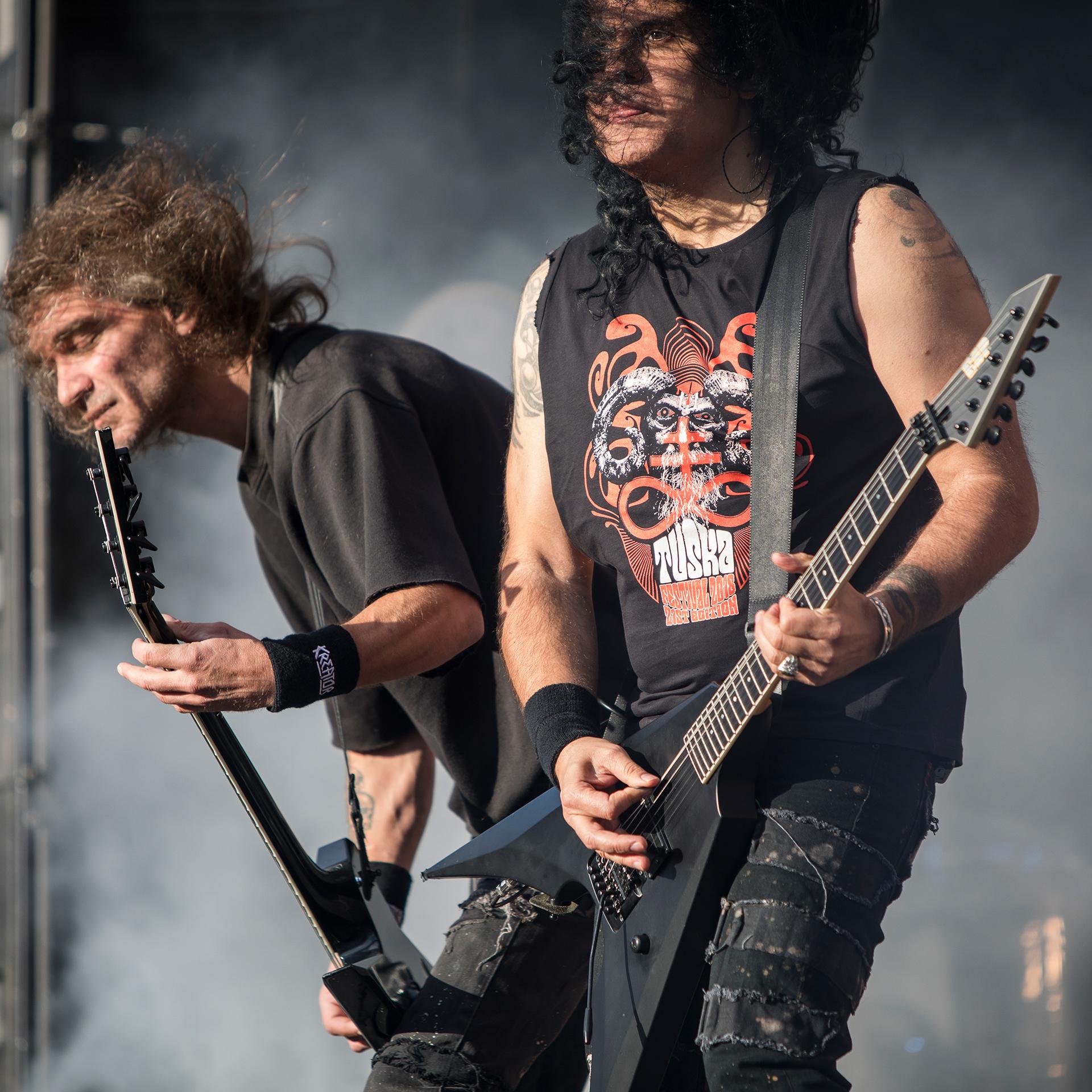 Mille Petrozza, Sami Yli-Sirniö, Kreator, Tuska metal festival, metal music
