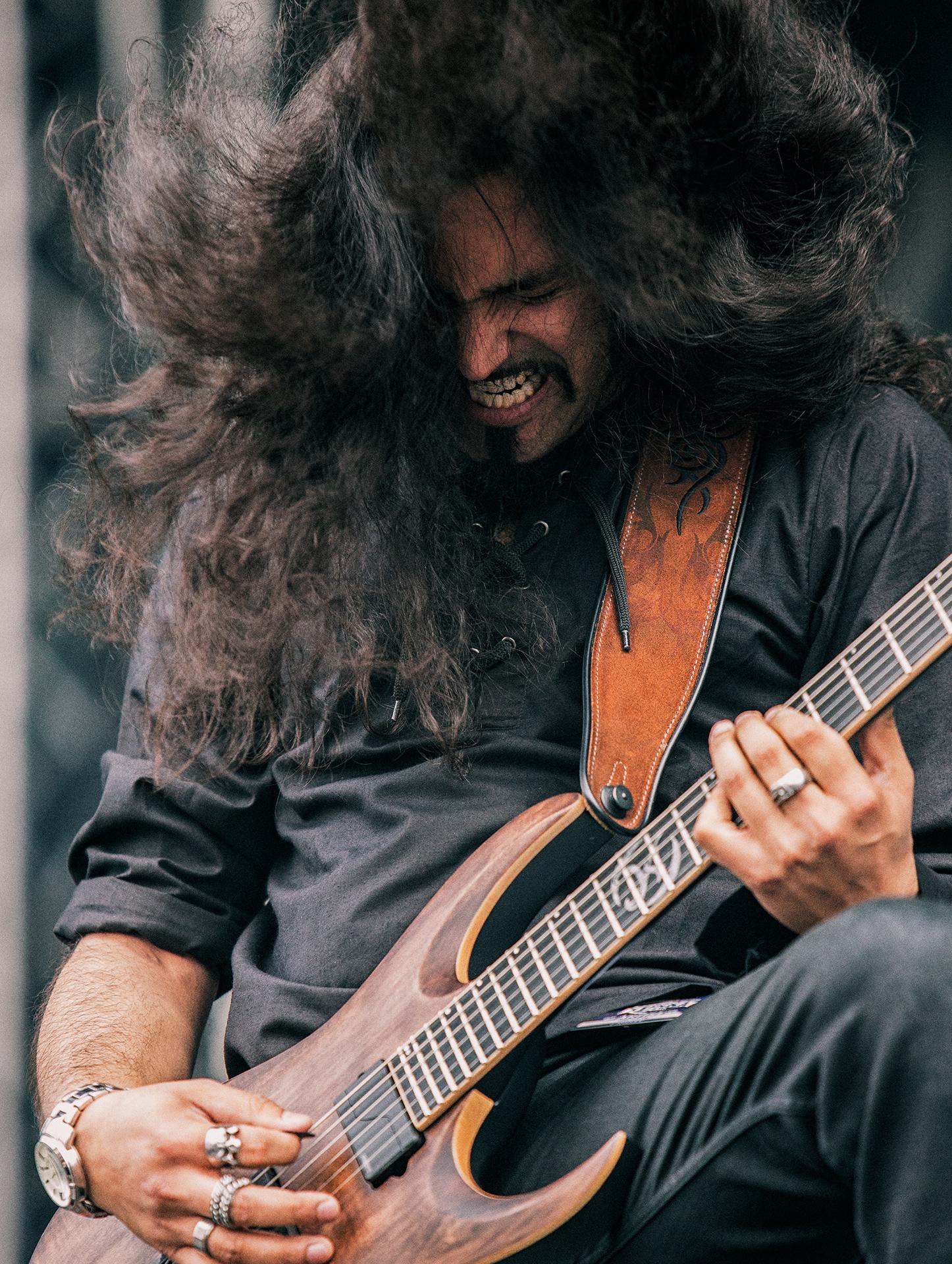Asim Searah, guitarist, vocalist, Wintersun band, Tuska metal festival