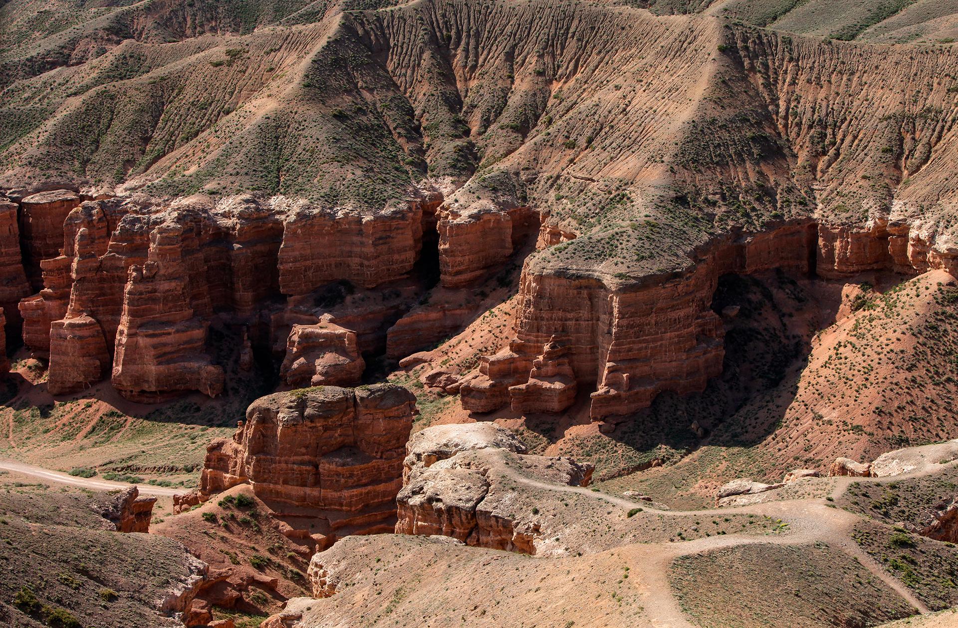Charyn canyon, Kazakhstan, Almaty, rocks
