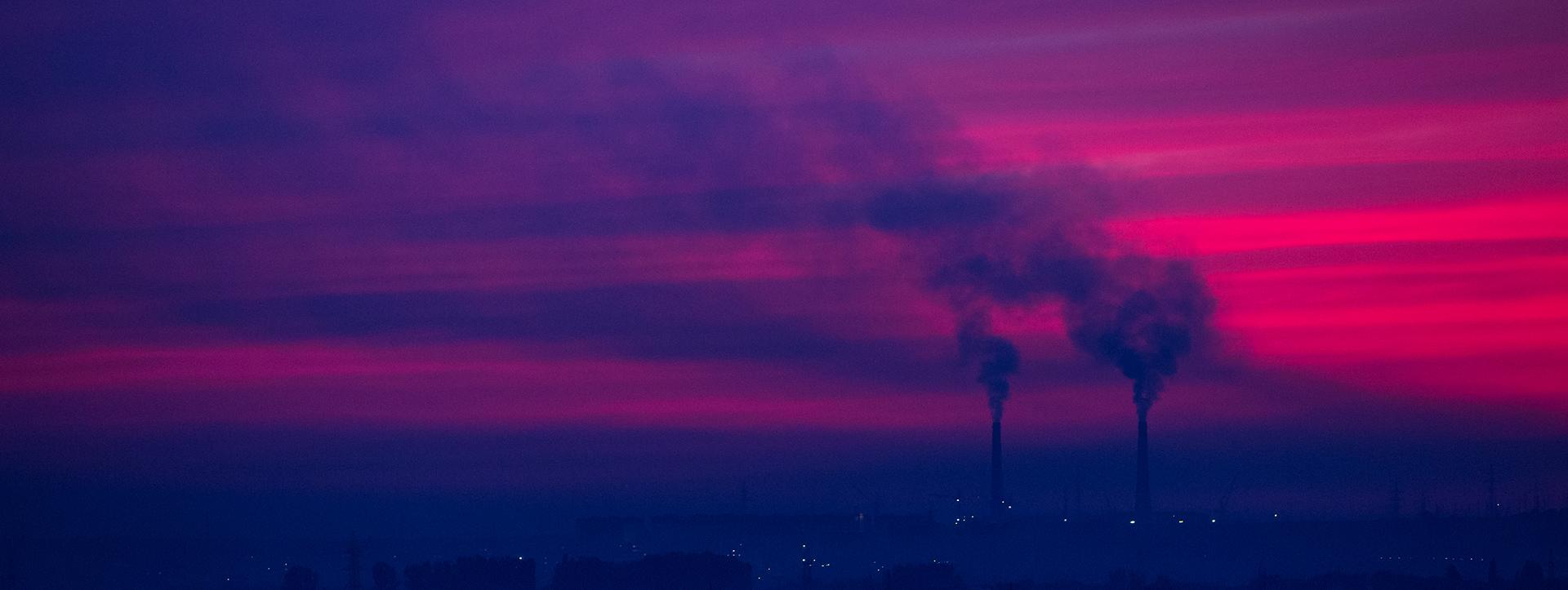 Sunset, Almaty, ecology, smoke, Kazakhstan, smog