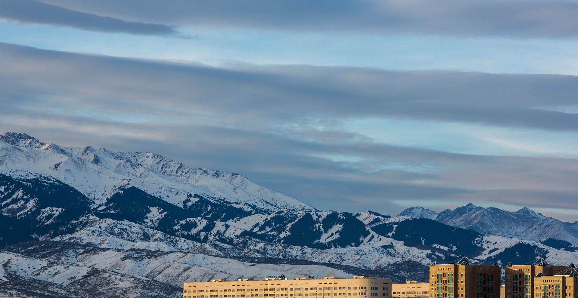 Almaty, Kazakhstan, Sky, mountains