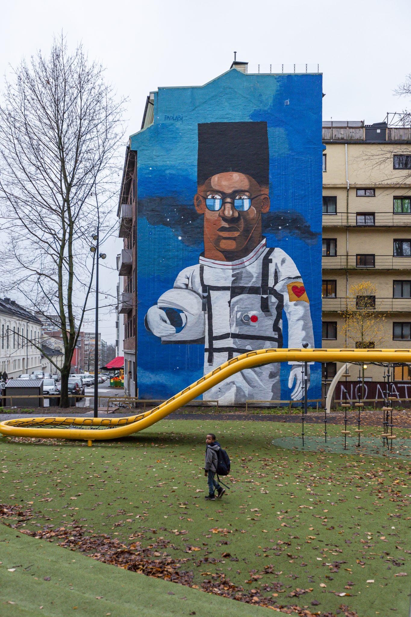 Töyen, Oslo, Norway, urban, kids, black, graffity