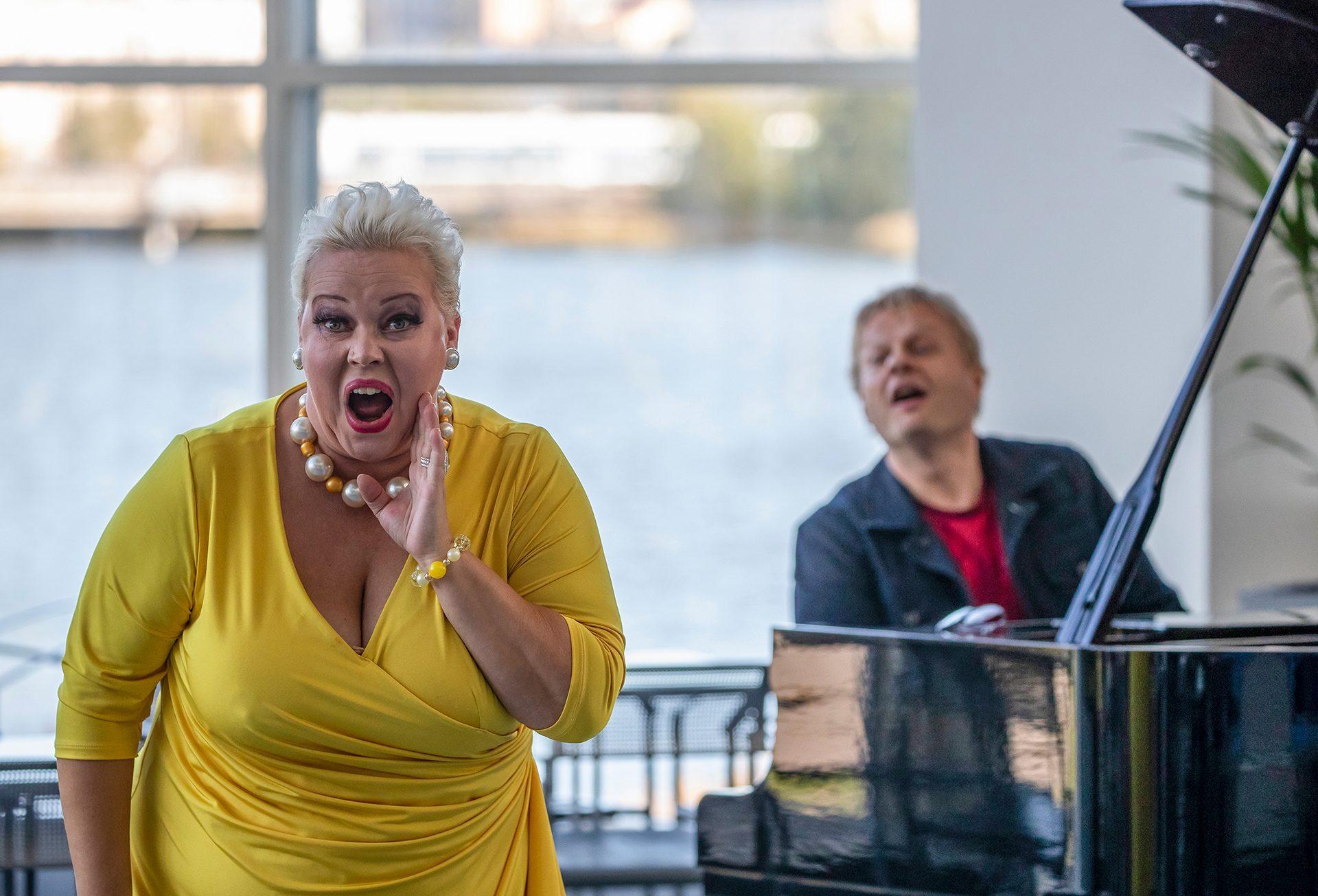 Johanna Rusanen, opera singer and Iiro Rantala, composer, Helsinki