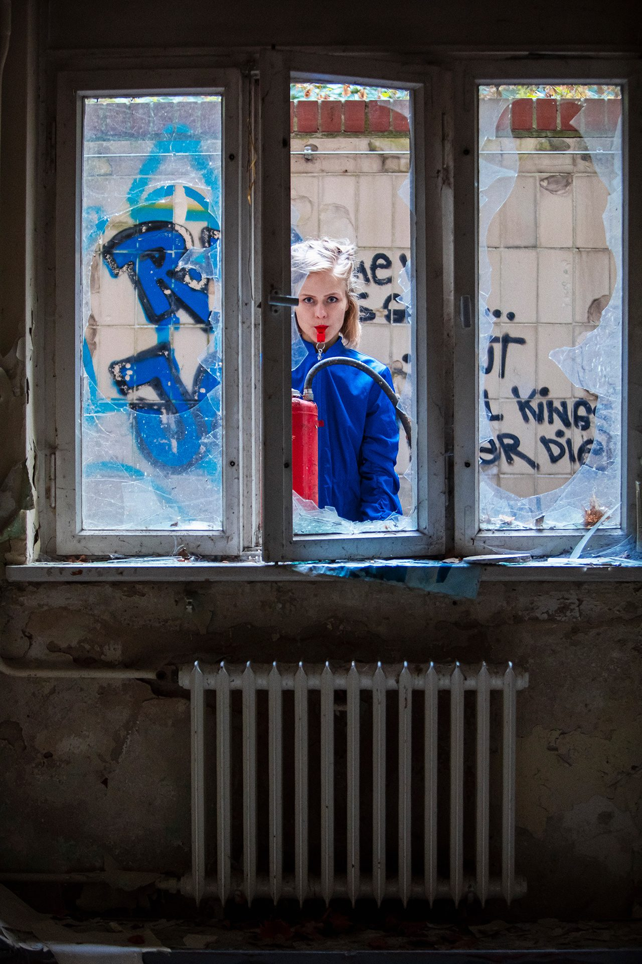 Anastassija Klee, Berlin, double exposure, art, model, style, abandoned, fashion, photo session, photoset, Germany, photography