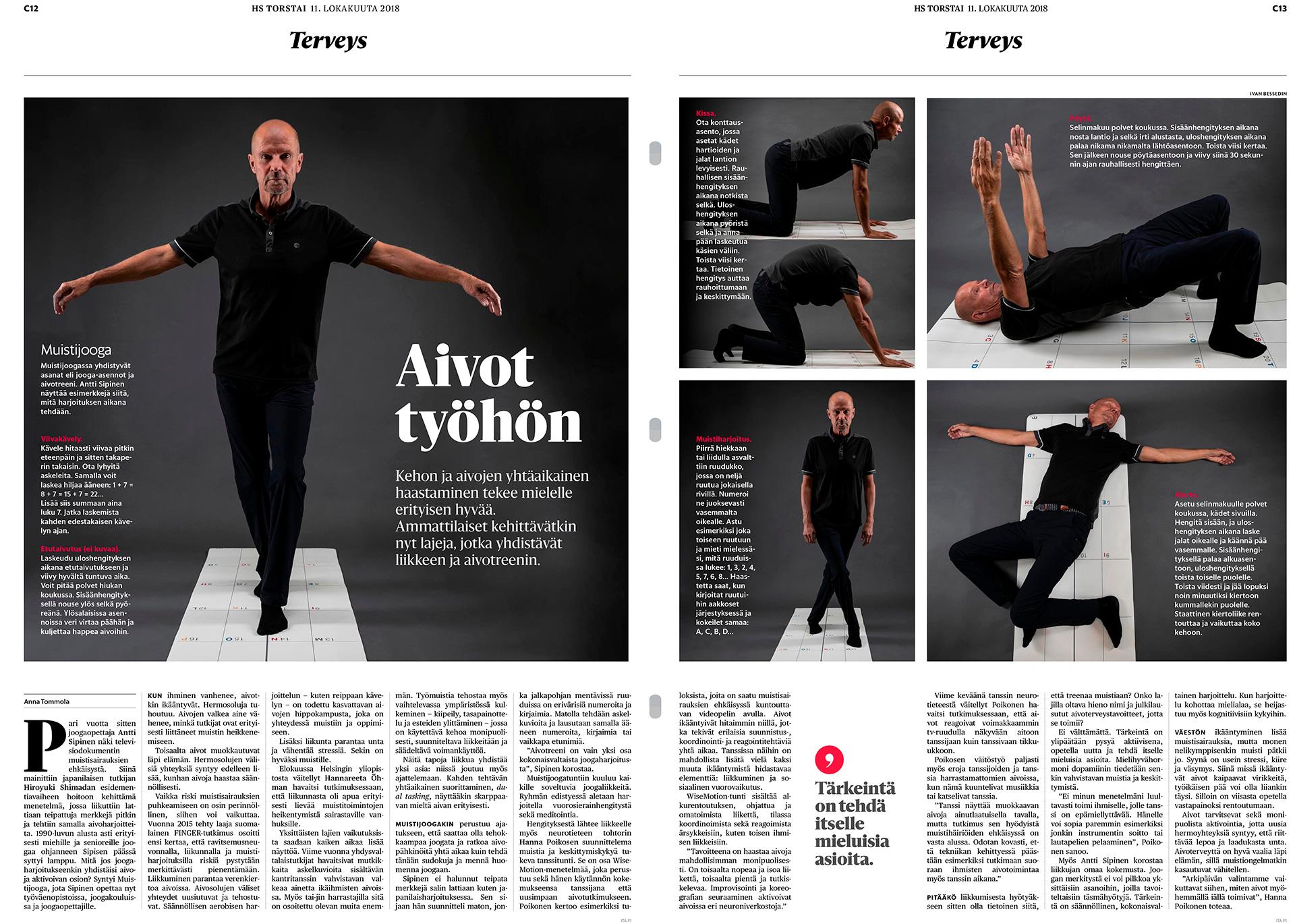 Helsingin Sanomat, Antti Sipinen, jooganopettaja