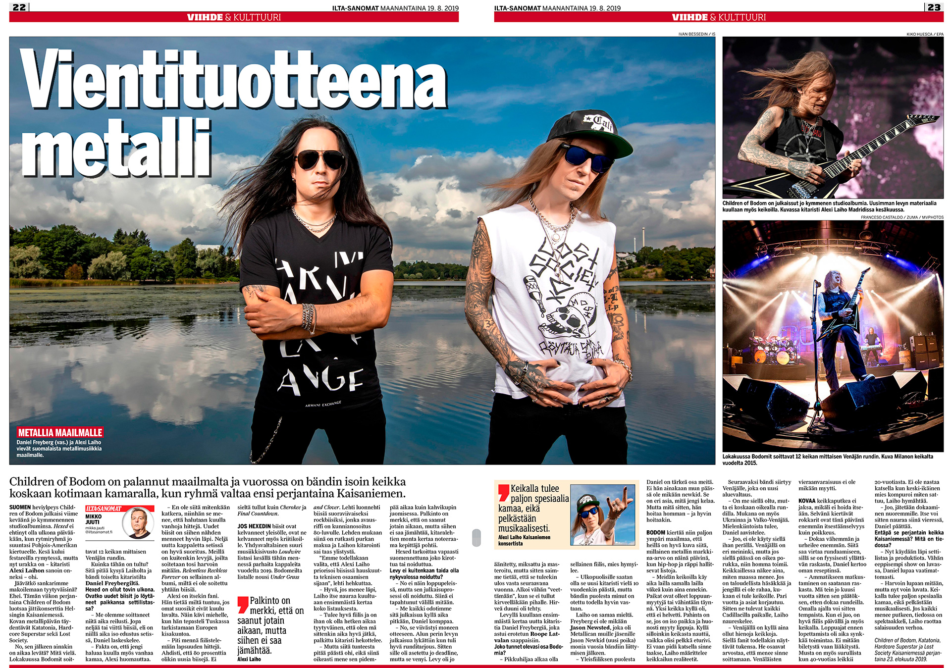 lta-Sanomat, Daniel Freyberg, Alexi Laiho, Children Of Bodom, metal band