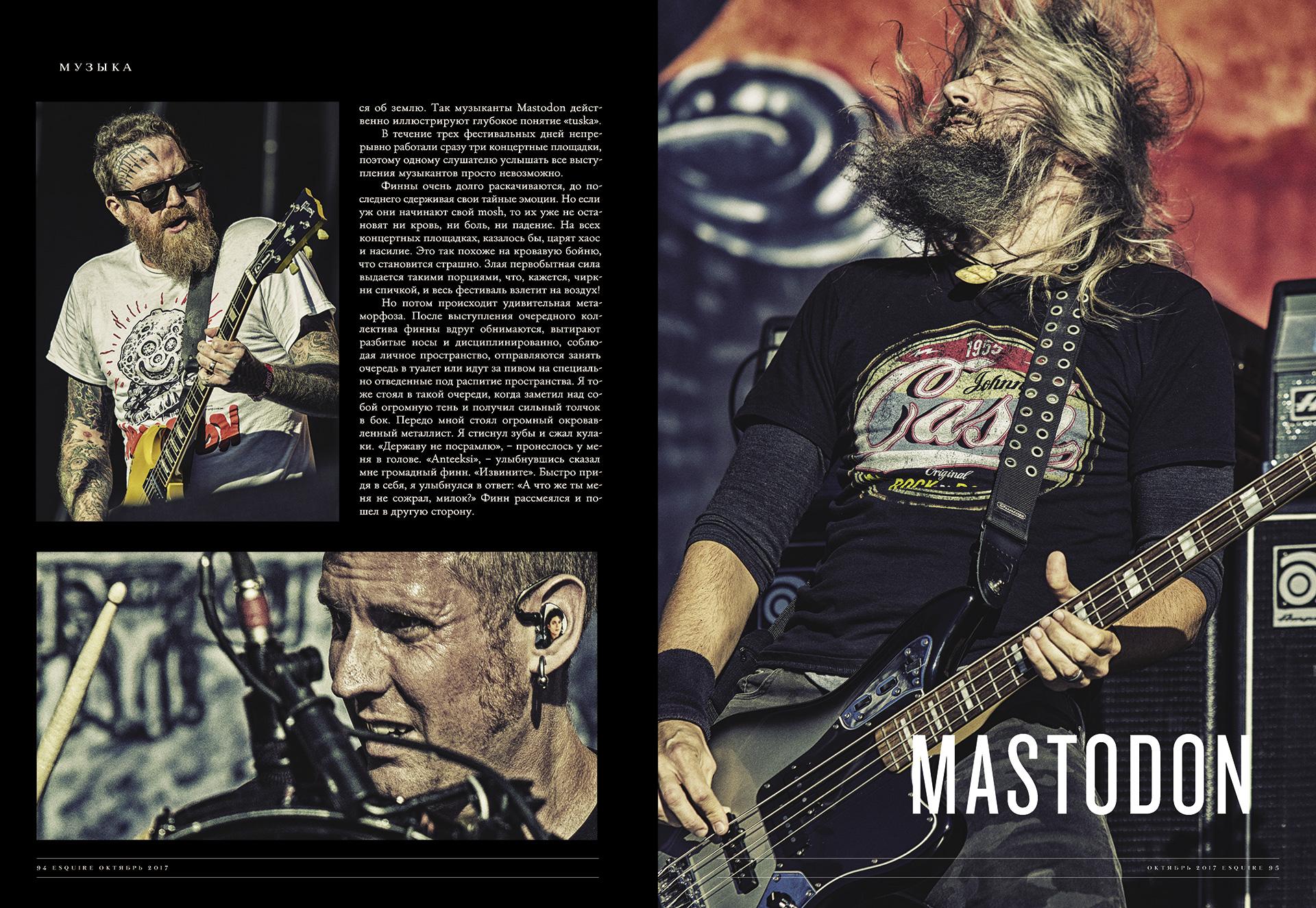Esquire, 2017 Tuska metal festival, Helsinki, Finland, Mastodon, Lost Society, Apocalyptica