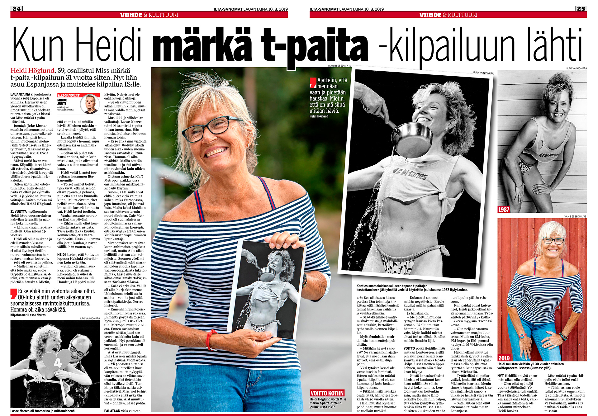 Ilta-Sanomat, Heidi Haglund, 1986 Miss Wet T-Shirt