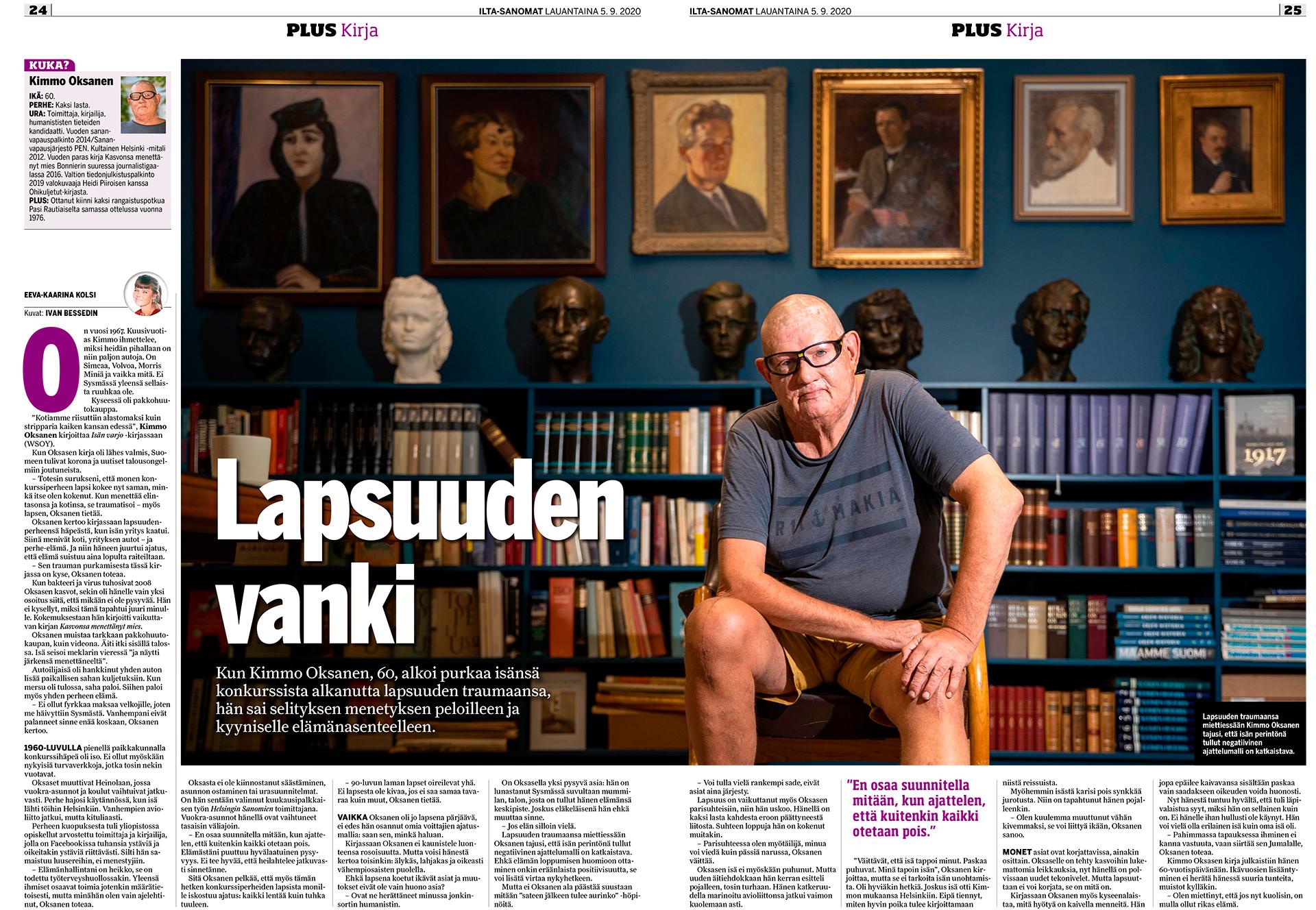 Kimmo Oksanen, Helsingin Sanomat, toimittaja, kolumnisti, kirjailija