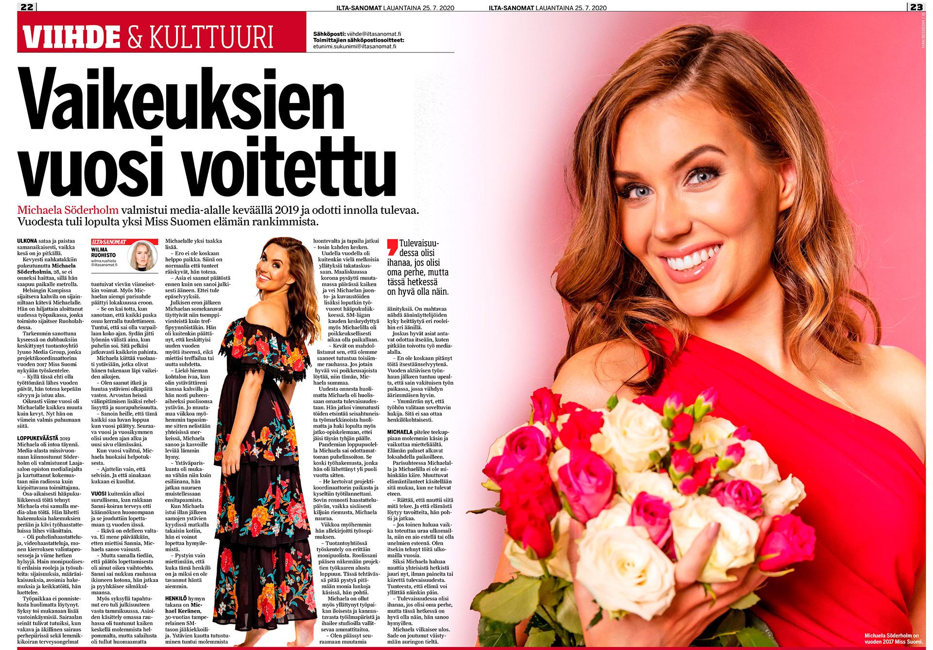 Michaela Söderholm, Miss Suomi 2017, Miss Finland