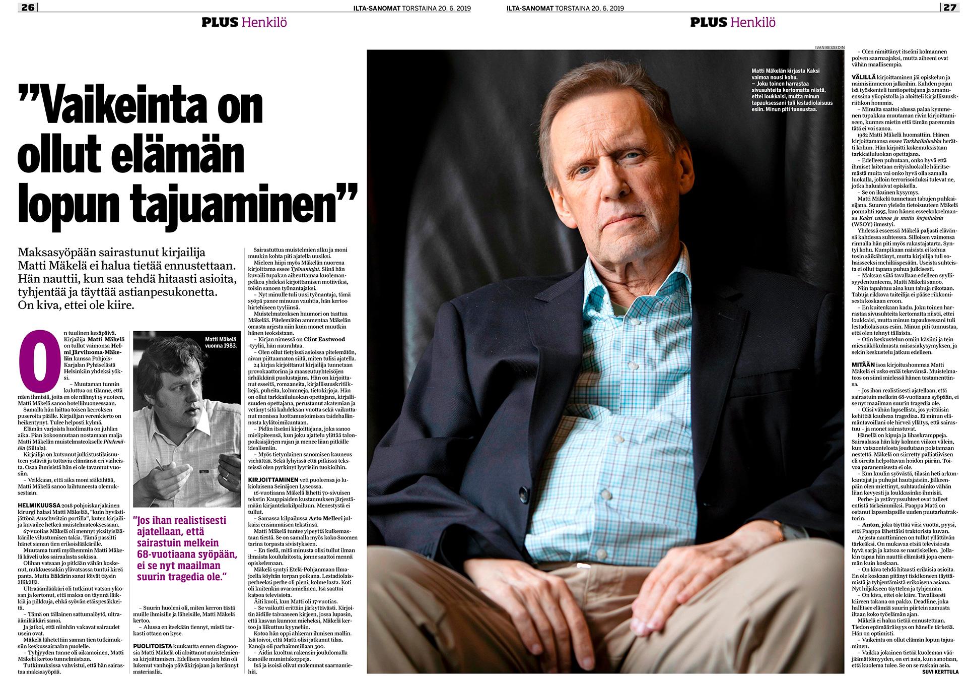 Ilta-Sanomat, Matti Mäkelä, kirjailija