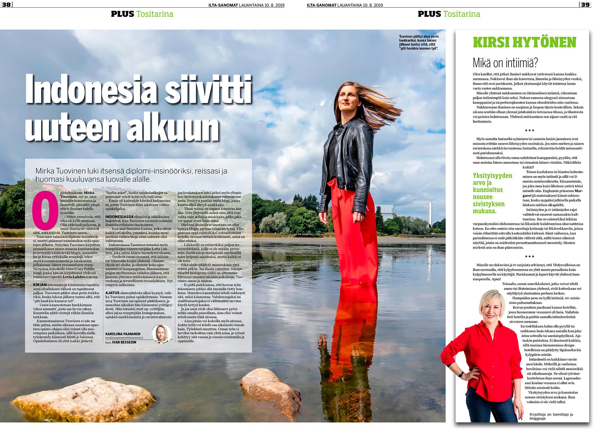 Mirka Tuovinen, suomalainen tietokirjailija sekä terveys- ruoka-alan vaikuttaja, health blogger,