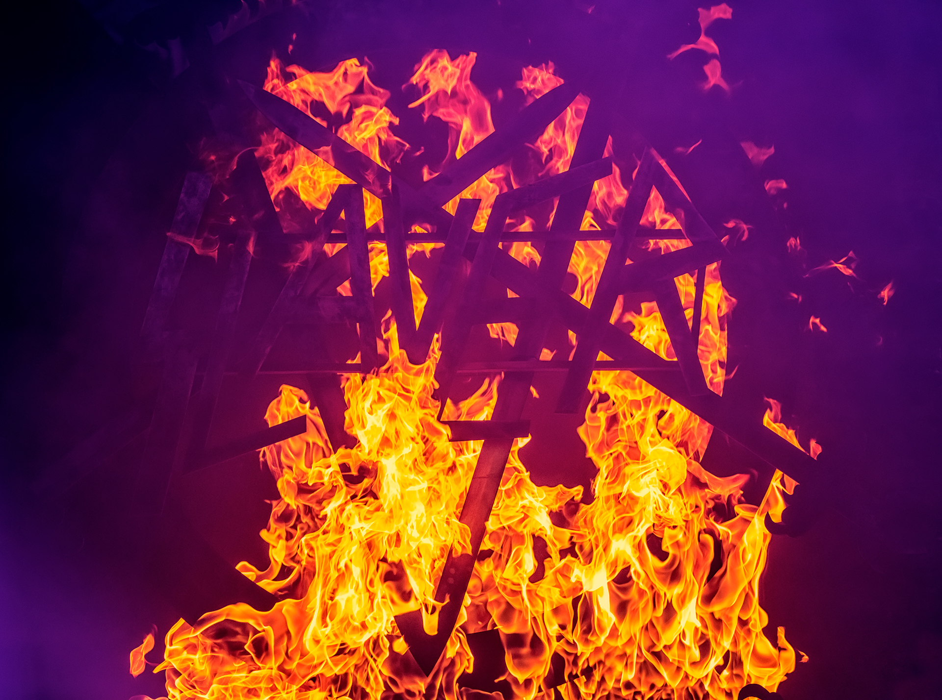 Slayer, band, Tuska metal festival, fire