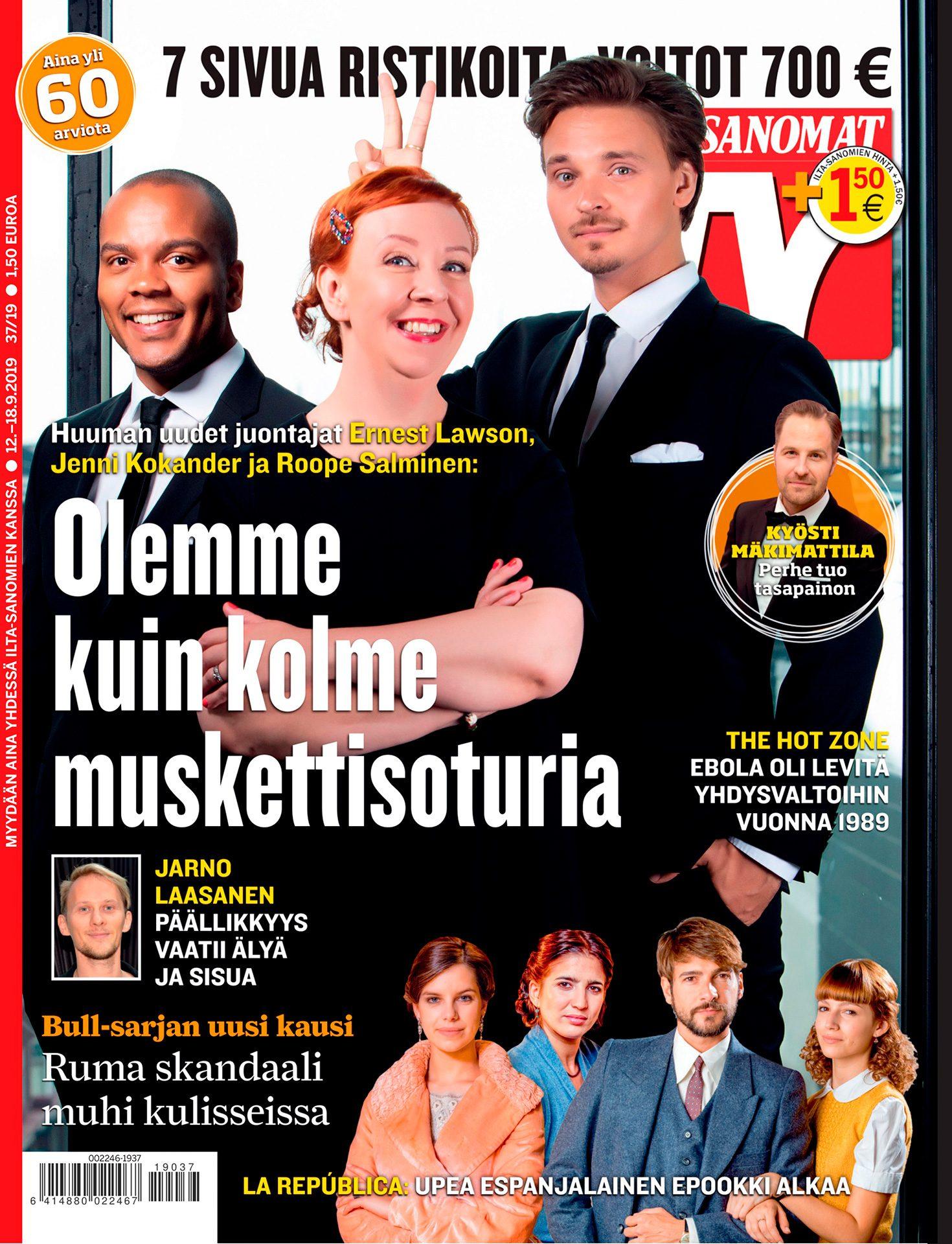 Roope Salminen, Jenni Kokander, Ernest Lawson, näyttelijät, koomikot, MTV3, televisio-ohjelma