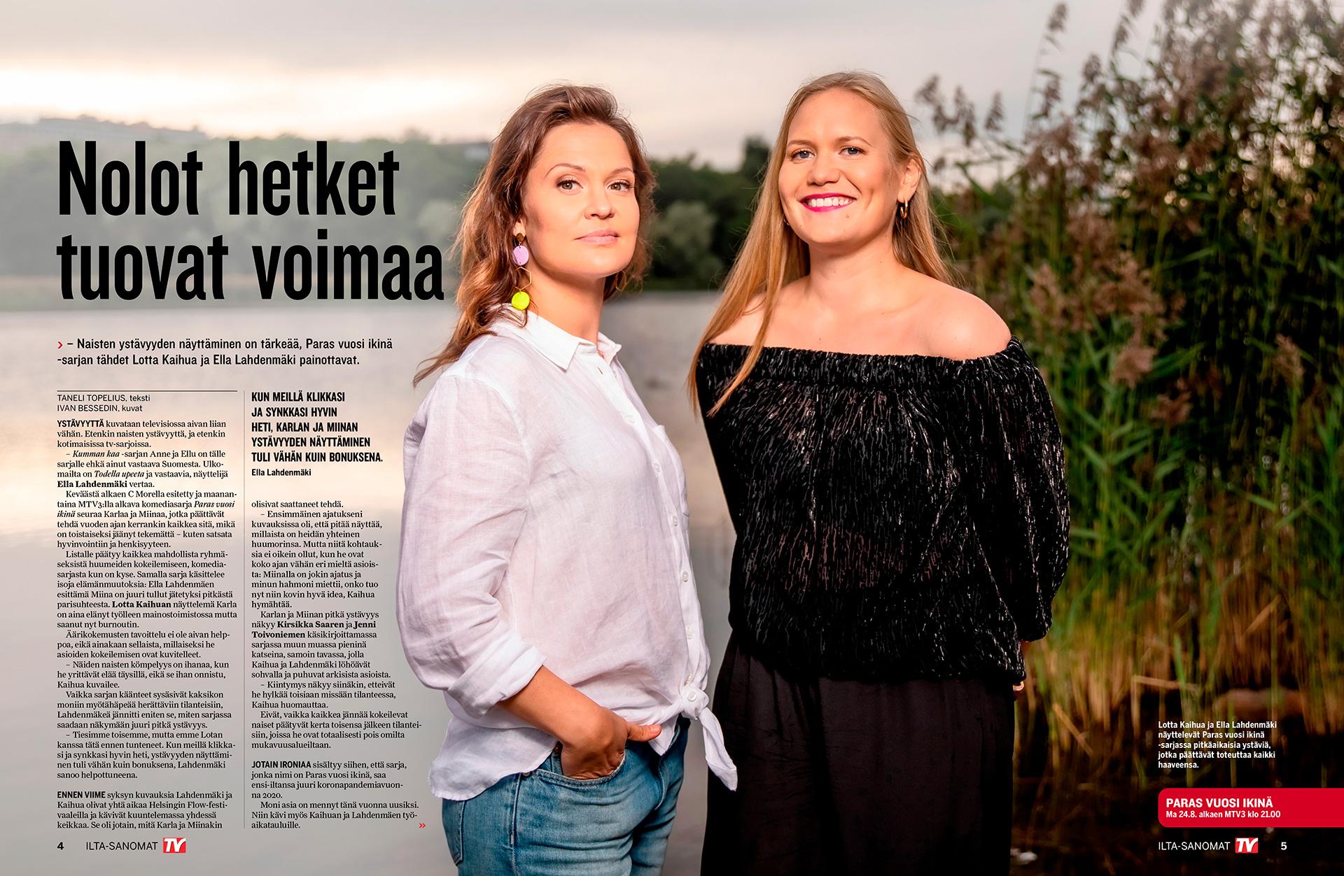 Lotta Kaihua, Ella Lahdenmäki, näyttelijät