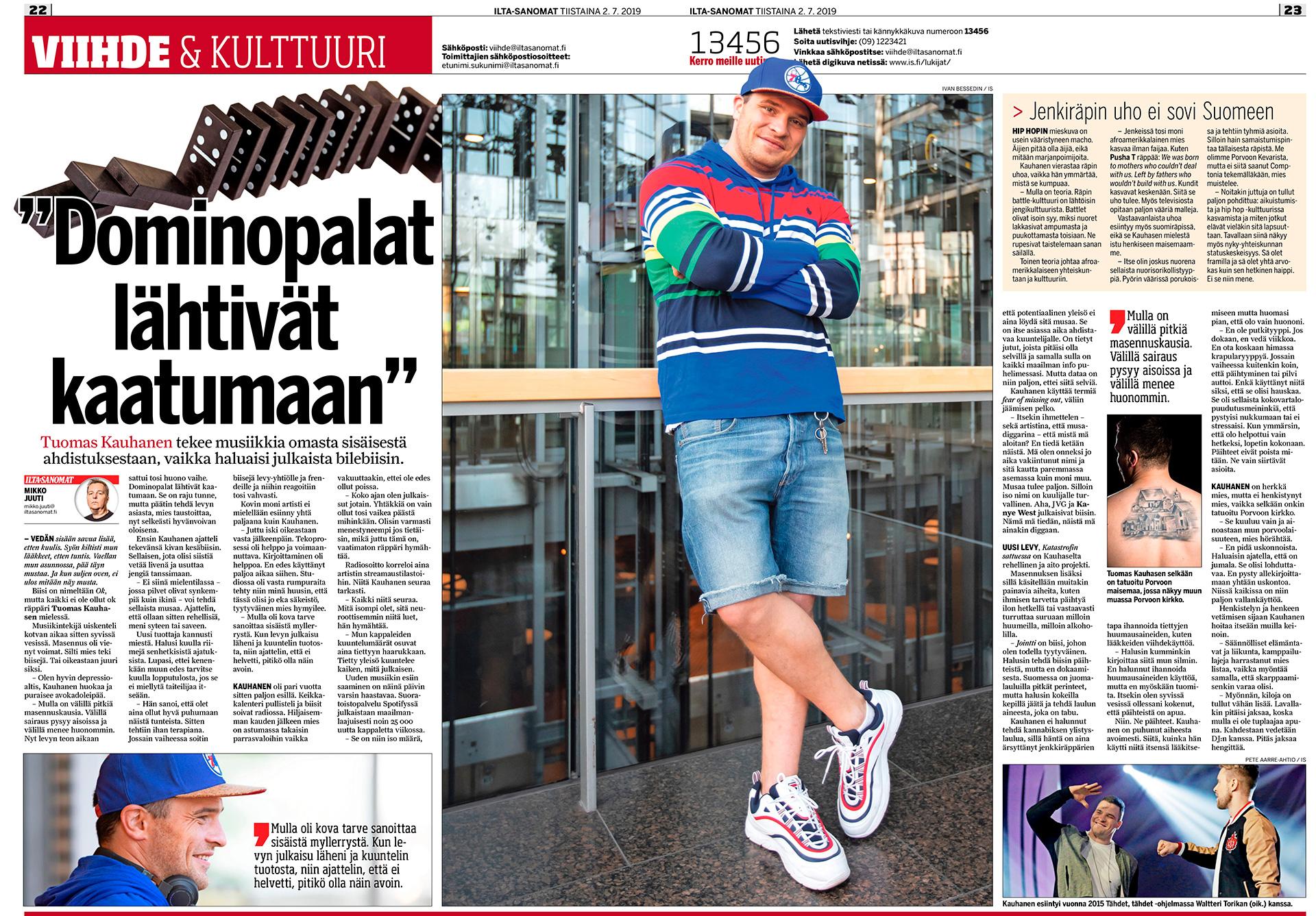 Ilta-Sanomat, Tuomas Kauhasen, räppäri, Sanomatalo, Helsinki, Suomi