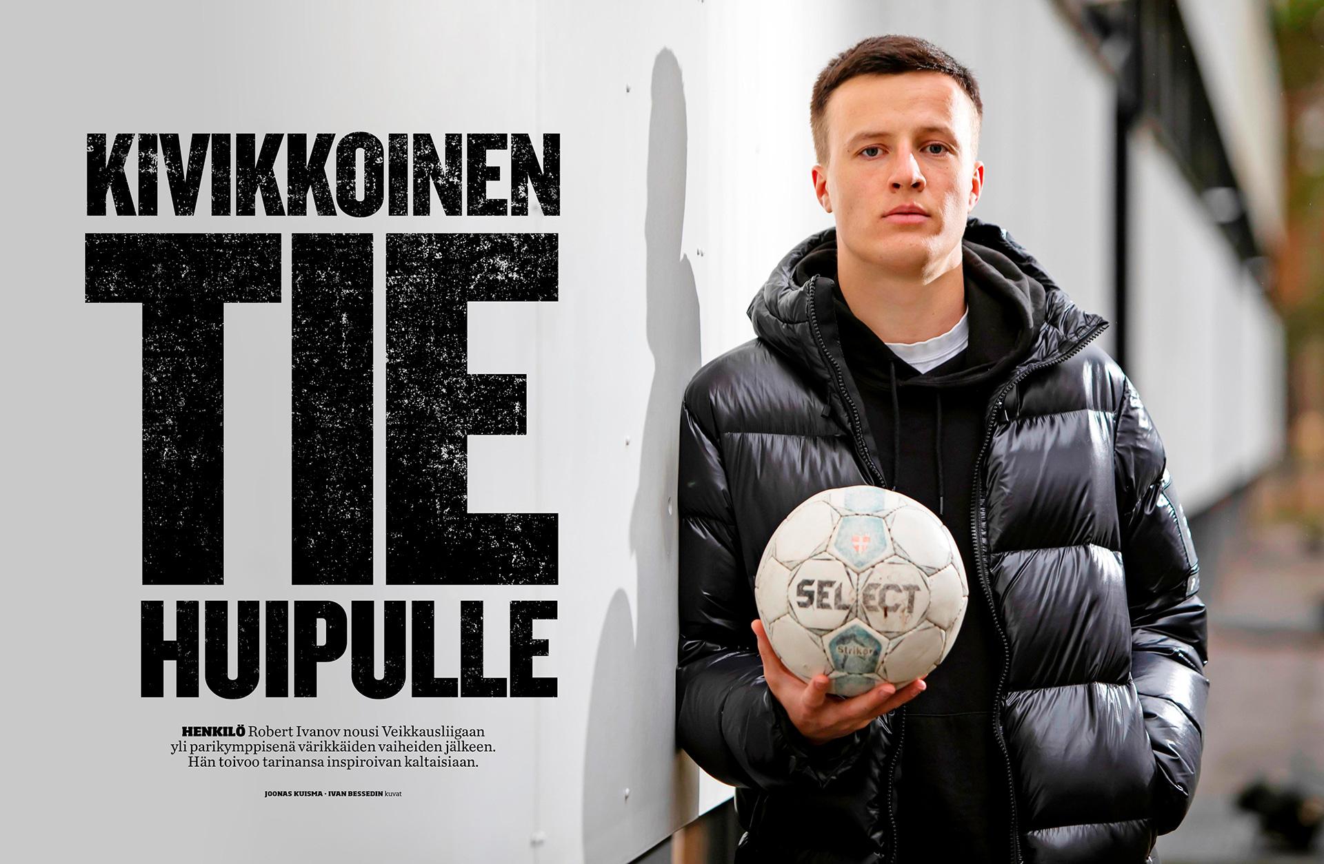 Urheilu Lehti, Robert Ivanov, footballer, suomalainen jalkapalloilija