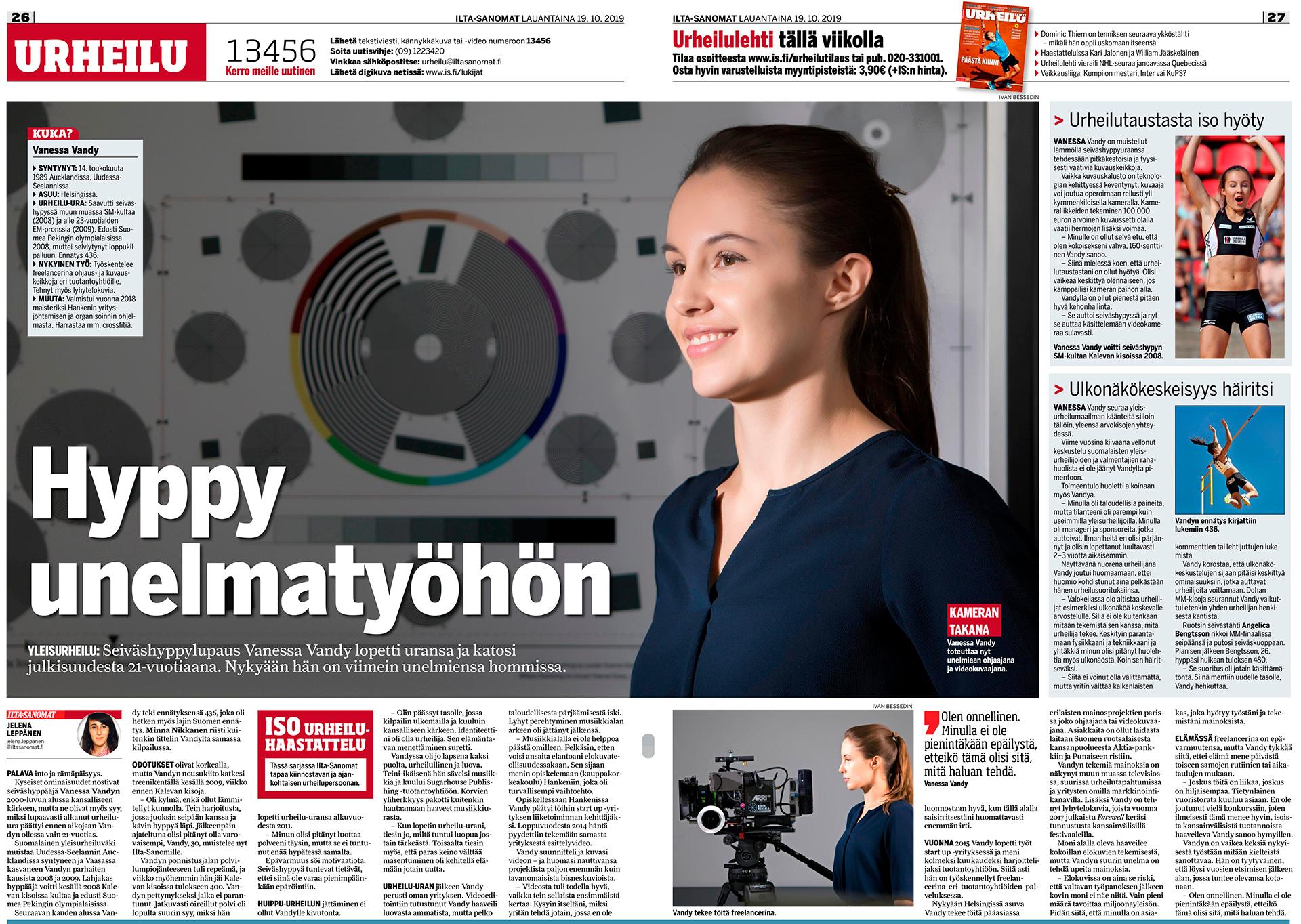 Vanessa Vandy, cinematographer, elokuvaohjaaja, kuvaaja, Seiväshyppy, Pole vault