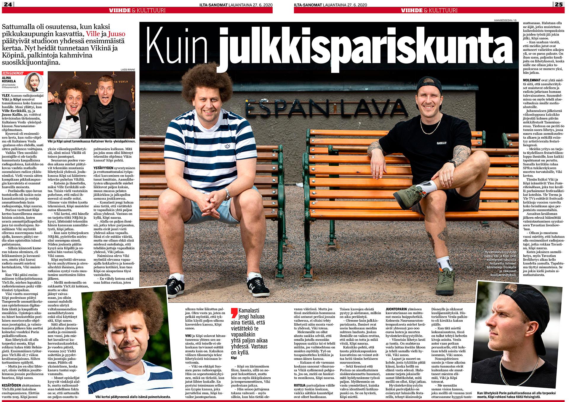 Viki ja Köpi, juontajat, radiojuontajat