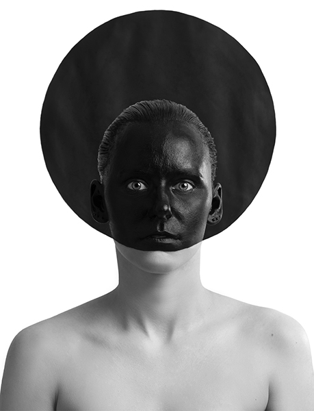 Black Circle, Kazimir Malevich, suprematism, triptych, Black Square, Black Circle, Black Cross, Model, Varvara Agapova, Painting, Eugenia Sorokina, Idea, photography, Ivan Bessedin, art, studio, minimalism, fashion